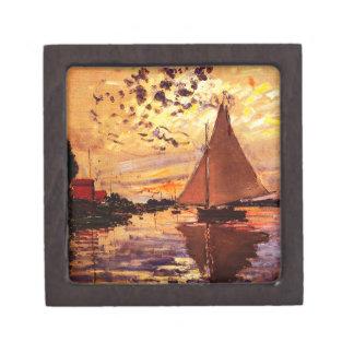 Claude Monet-Sailboat at Le Petit-Gennevilliers Jewelry Box