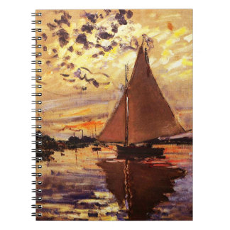 Claude Monet-Sailboat at Le Petit-Gennevilliers Notebook