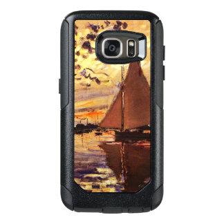 Claude Monet-Sailboat at Le Petit-Gennevilliers OtterBox Samsung Galaxy S7 Case
