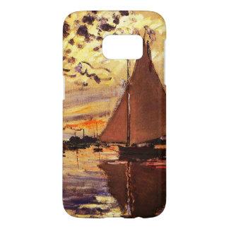 Claude Monet-Sailboat at Le Petit-Gennevilliers Samsung Galaxy S7 Case