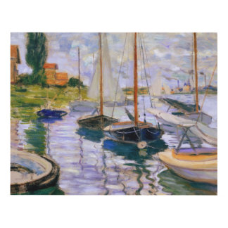 Claude Monet - Sailboats on the Seine Panel Wall Art