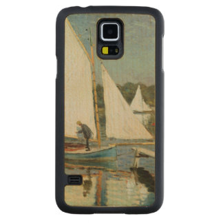 Claude Monet | Sailing at Argenteuil, c.1874 Carved Maple Galaxy S5 Slim Case