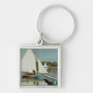 Claude Monet | Sailing at Argenteuil, c.1874 Keychain