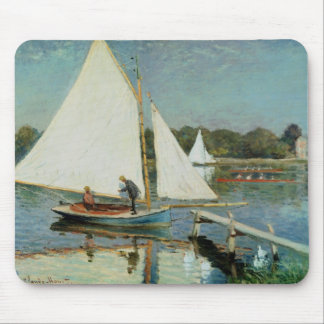 Claude Monet | Sailing at Argenteuil, c.1874 Mouse Pad