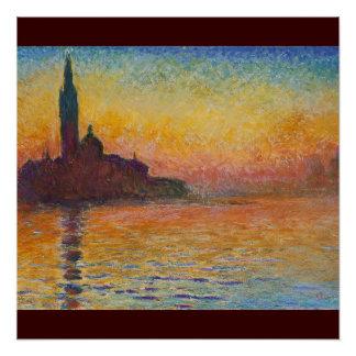 Claude_Monet,_Saint-Georges_majeur 1908 Painting Poster