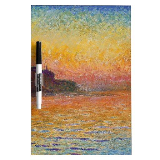 Claude Monet - San Giorgio Maggiore at Dusk Dry-Erase Board