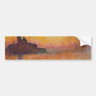 Claude Monet - San Jorge Maggiore en la oscuridad Pegatina Para Auto