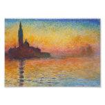 Claude Monet - San Jorge Maggiore en la oscuridad Impresion Fotografica