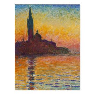 Claude Monet - San Jorge Maggiore en la oscuridad Postal