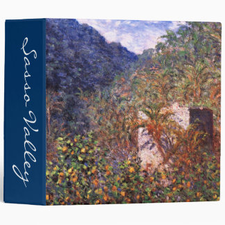 Claude Monet: Sasso Valley 3 Ring Binder