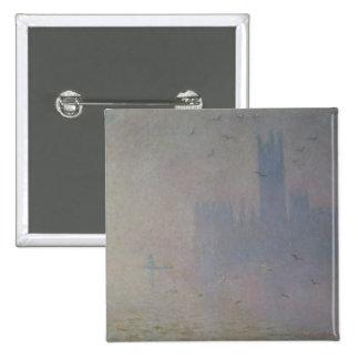 Claude Monet | Seagulls over Houses of Parliament Pinback Button