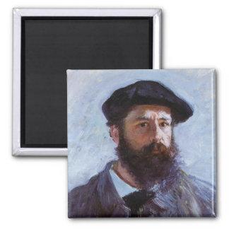 Claude Monet Self-Portrait 2 Inch Square Magnet