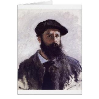 Claude Monet - Self-portrait in Beret 1886 Greeting Cards