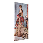 Claude Monet - señora Gaudibert Lienzo Envuelto Para Galerias