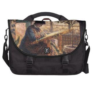 Claude Monet: Señora Monet Embroidering Bolsas Para Portátil