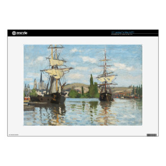 Claude Monet | Ships Riding on the Seine at Rouen Laptop Skins