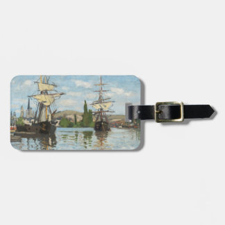 Claude Monet   Ships Riding on the Seine at Rouen Luggage Tag