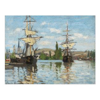 Claude Monet | Ships Riding on the Seine at Rouen Postcard
