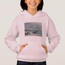 Claude Monet Sky Clouds Boats Ships Sea Ocean Hoodie
