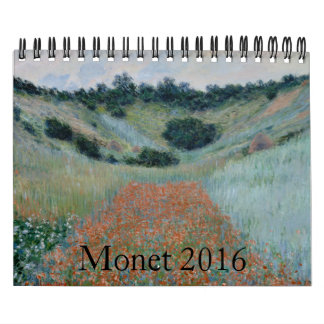 Claude Monet Small 2016 Calendar