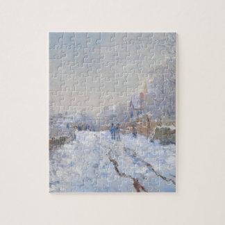 Claude Monet // Snow at Argenteuil Puzzle