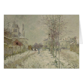 Claude Monet | Snow Effect Card