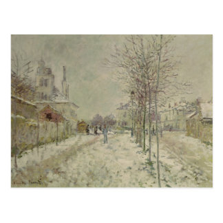 Claude Monet | Snow Effect Postcard