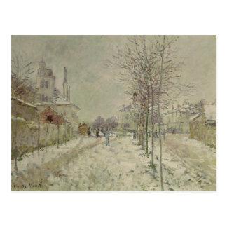 Claude Monet | Snow Effect Postcard