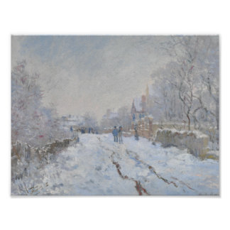 Claude Monet - Snow Scene at Argenteuil Poster