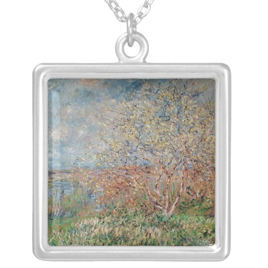 Claude Monet | Spring, 1880-82 Silver Plated Necklace