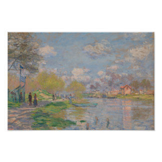 Claude Monet - Spring by the Seine Poster
