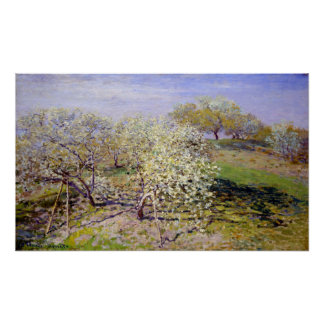 Claude Monet Spring (Fruit Trees in Bloom) Poster