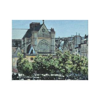 Claude Monet - St. Germain l'Auxerrois Canvas Print