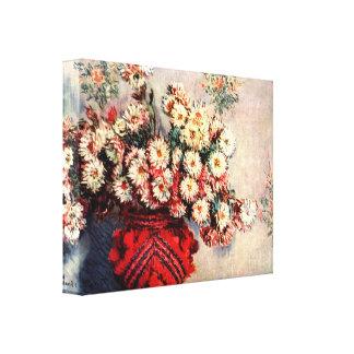 Claude Monet - still life chrysanthemums Canvas Print