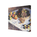 Claude Monet Still Life with Apples and Grapes Canvas Print