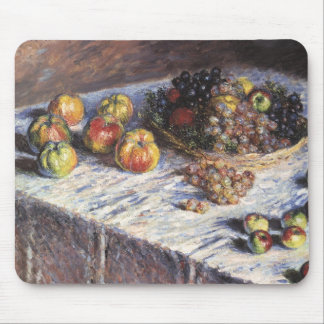 Claude Monet Still Life with Apples and Grapes Mouse Pad