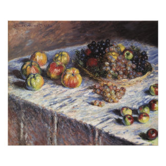 Claude Monet Still Life with Apples and Grapes Poster