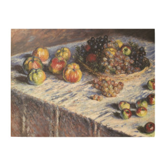 Claude Monet Still Life with Apples and Grapes Wood Wall Art