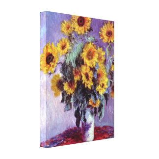 Claude Monet - Still Life with Sunflowers Canvas Print