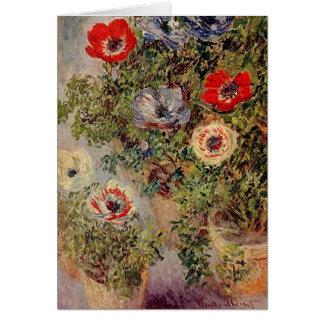 Claude Monet - Stilllife with Anemonies Card