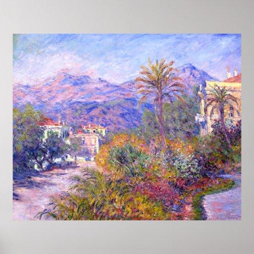 Claude Monet: Strada Romada en Bordighera Impresiones