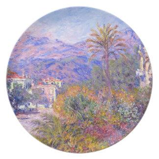 Claude Monet: Strada Romada in Bordighera Dinner Plate