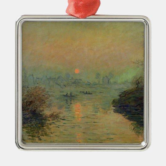 Claude Monet | Sun Setting over the Seine Metal Ornament
