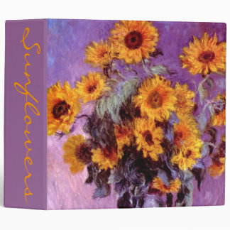Claude Monet: Sunflowers 3 Ring Binder