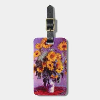 Claude Monet: Sunflowers Bag Tag