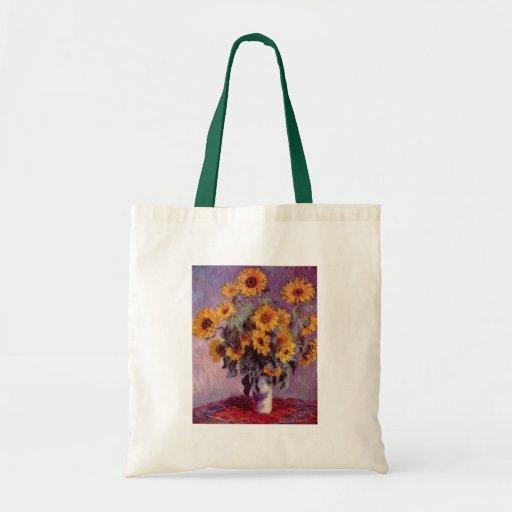 Claude Monet Sunflowers Bags