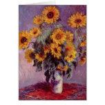 Claude Monet Sunflowers Card