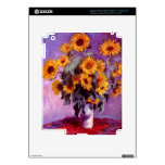 Claude Monet: Sunflowers Decals For iPad 3