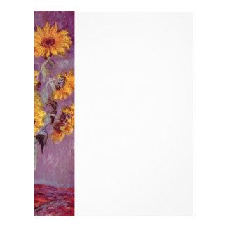 Claude Monet // Sunflowers Letterhead