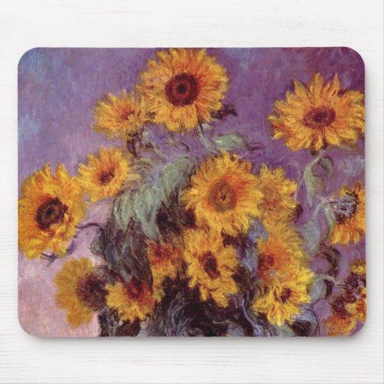 Claude Monet Sunflowers Mouse Pad